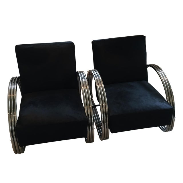 Ralph Lauren Hudson Street Lounge Chairs - A Pair For Sale