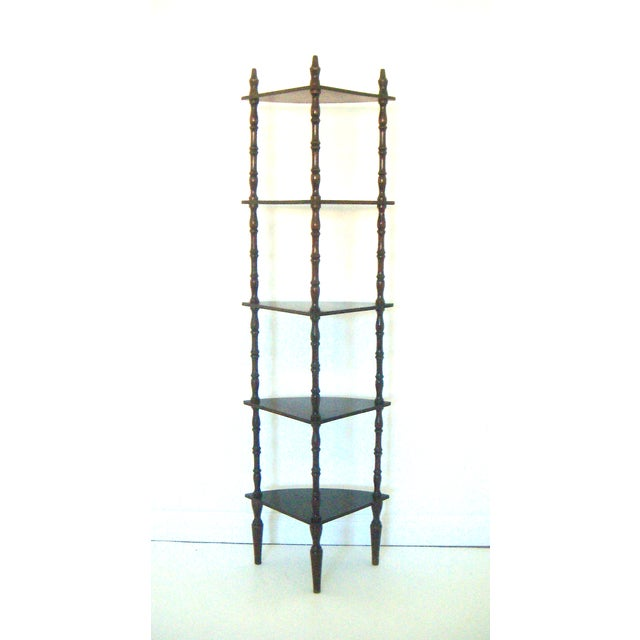 Vintage Mahogany Corner Etagere with Five Shelves - Image 3 of 5