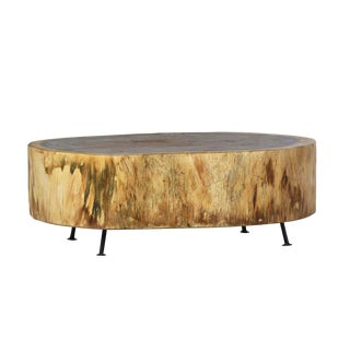 Modern Slab Coffee Table For Sale