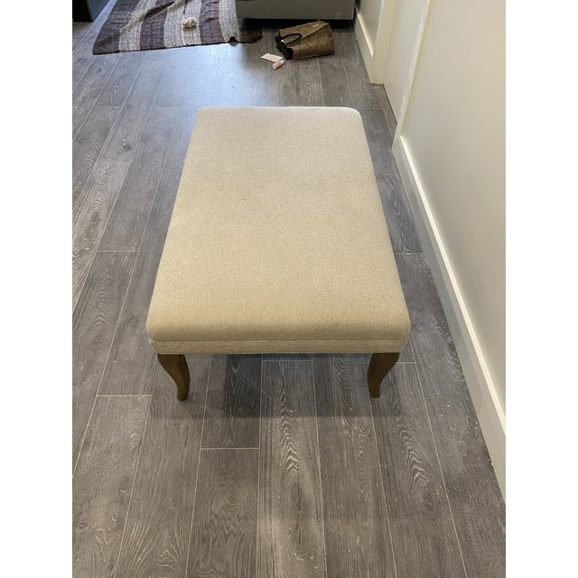 Cabriole Leg Rectangular Ottoman For Sale - Image 4 of 10