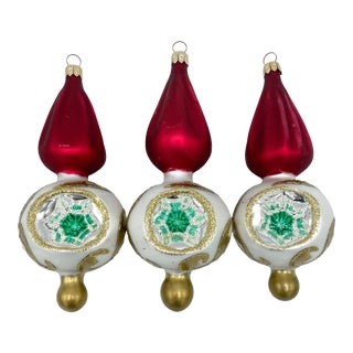 Mid-Century Christmas Indent Ornament-Set of 3 For Sale
