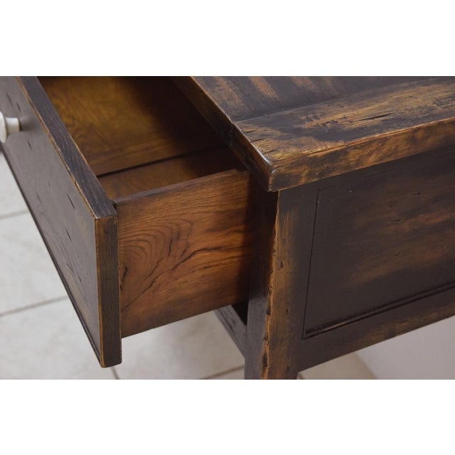 Designer Piece- by Alden Parkes - Reclaimed Wood Sofa/Console Table For Sale - Image 9 of 10