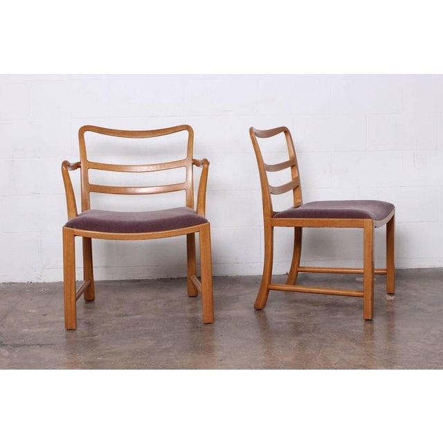 1950s Set of Eight Dining Chairs by Edward Wormley for Dunbar For Sale - Image 5 of 10