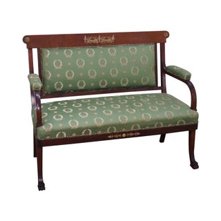 Antique Empire Mahogany Canape Settee For Sale