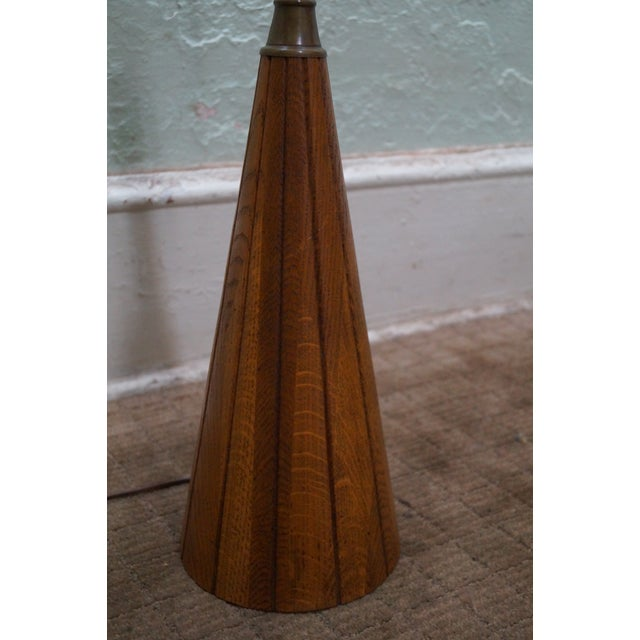 Brandt Ranch Oak Cone Shaped Table Lamp - Image 3 of 10