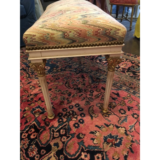 Louis XVI Louis XVI Benches - a Pair For Sale - Image 3 of 7