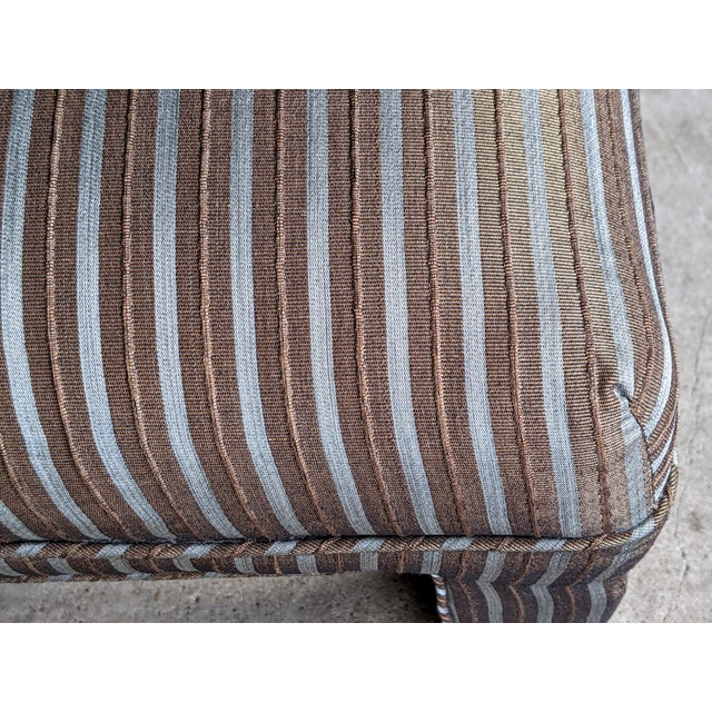 Textile 1980s Contemporary Parsons Bench For Sale - Image 7 of 12