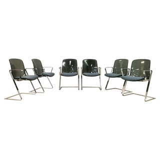 Vintage Chrome & Lucite Mod Dining Chairs - S/6 For Sale
