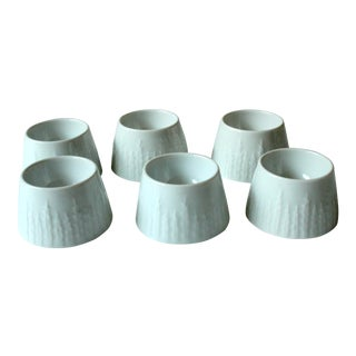 1970s Ceramic Egg Cups by Hutschenreuther Porcelain - Set of 6 For Sale