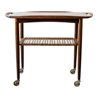 Danish Modern Cocktail Cart by Selig For Sale