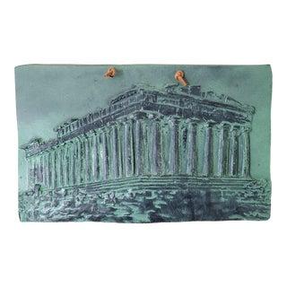 Vintage Traditional Decorative Greek Plaque For Sale