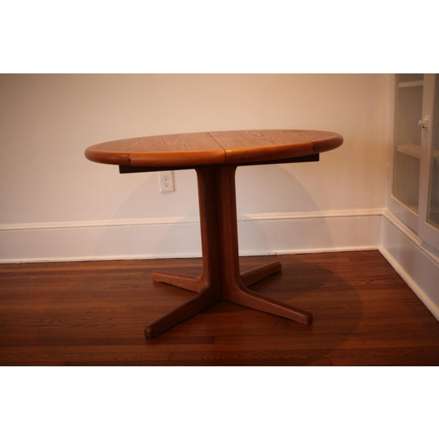 Solid Teak Round to Oval Dining Table - Image 4 of 10