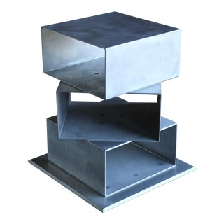 Postmodern Sculptural Aluminum Pedestal For Sale