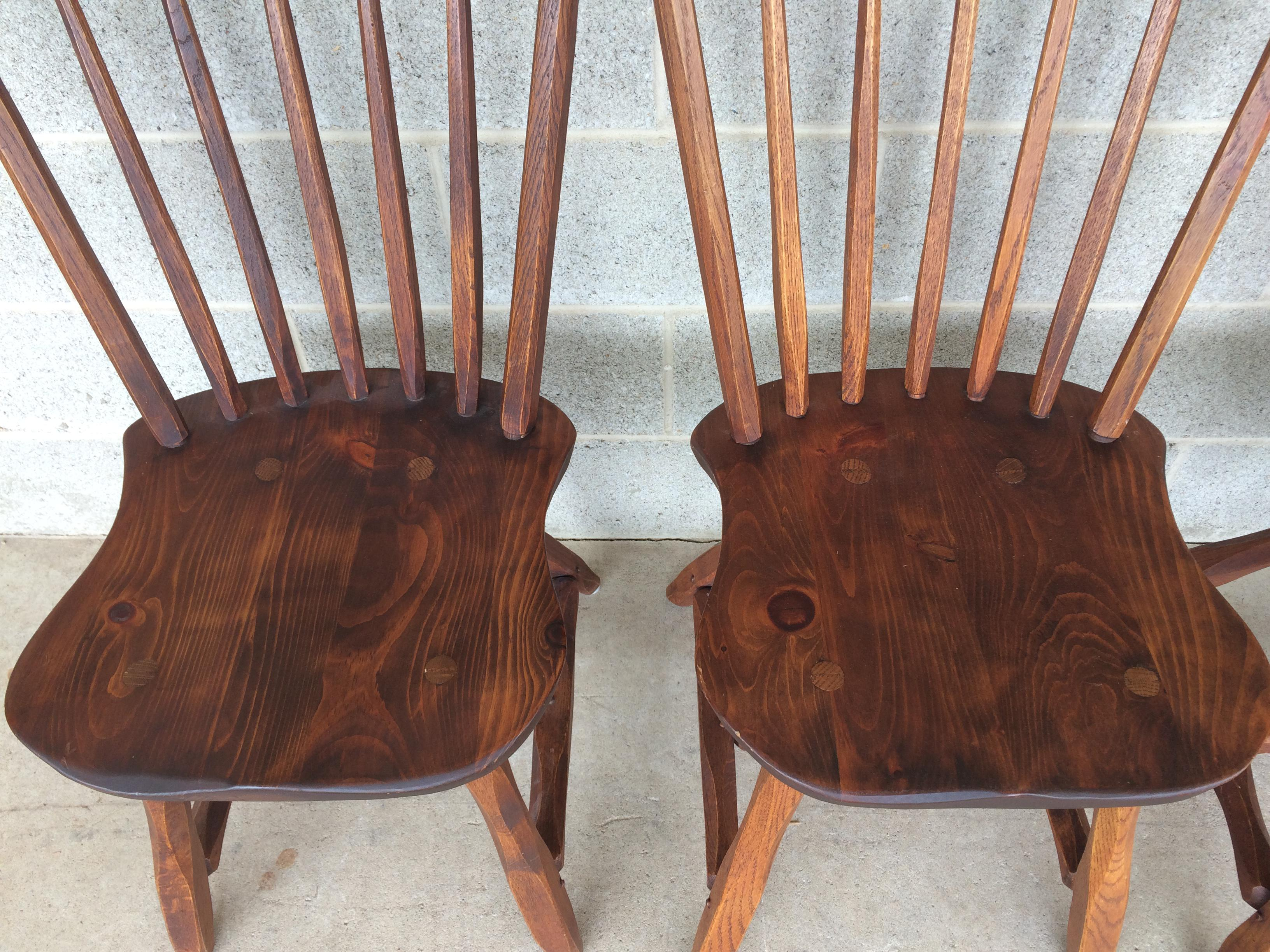Hunt Country Furniture Oak Side Chairs   Set Of 4   Image 3 Of 11