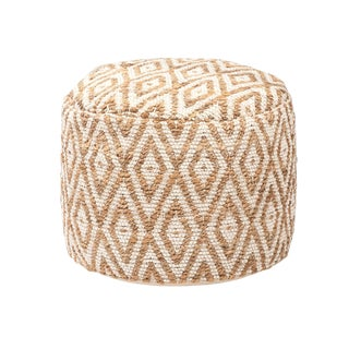 Woven Diamond Pouf For Sale