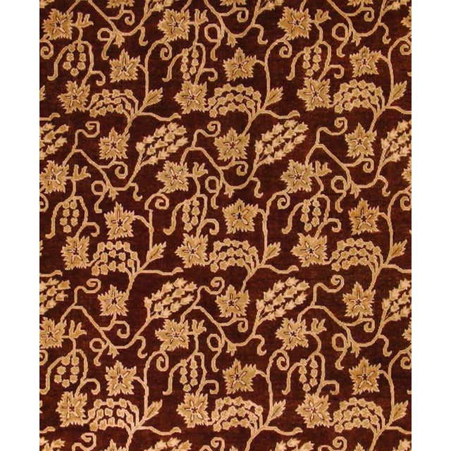 Contemporary Kafkaz Peshawar Yolanda Red/Gold Wool Rug - 8'11 X 11'11 For Sale - Image 3 of 7