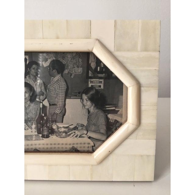 Vintage Bone & Wood Frame, Made India - Image 3 of 7
