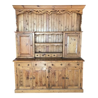 1900s Traditional Welsh Pine Cupboard For Sale