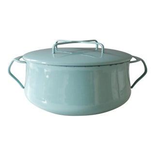 Dansk Kobenstyle Turquoise Enamel Dutch Oven Pot 3.75 Quart Jens Quistgaard Aqua