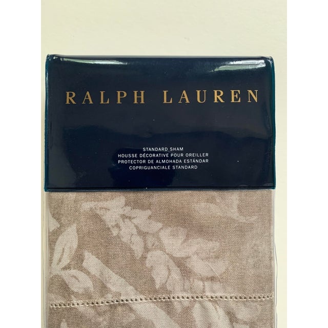 """A Ralph Lauren Sonoma Valley/natural pillow sham. Standard size, 20"""" x 28"""". New with tags in original unopened package...."""