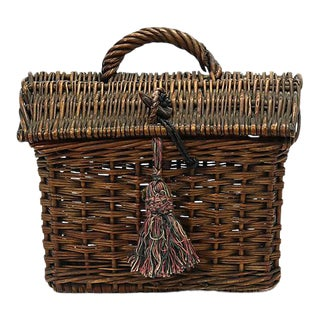 19th Century French Ladies Market Basket For Sale