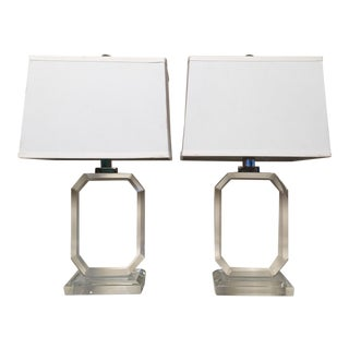 Ralph Lauren Home Faceted Crystal Lamps - a Pair