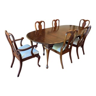 Cresent Cherry Dining Set For Sale