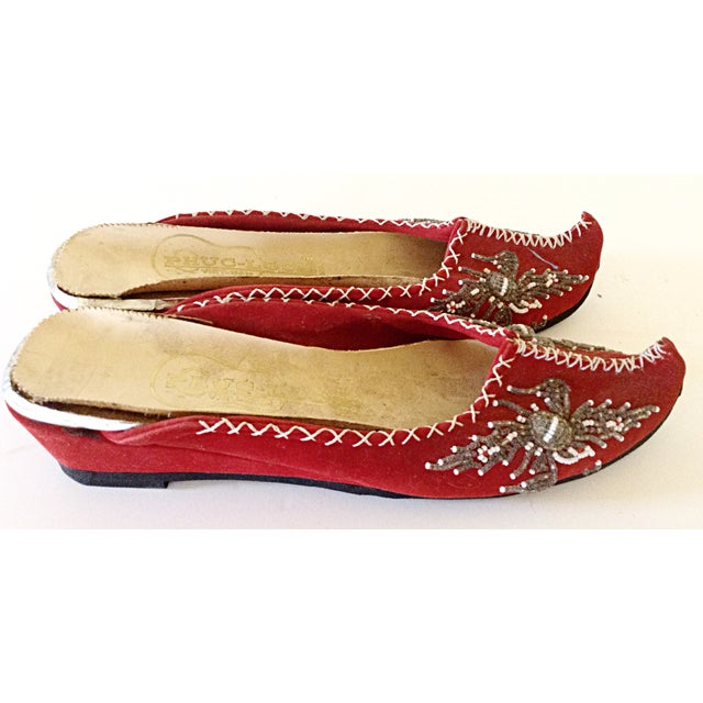 Pair of Vietnamese Embroidered Slippers - Image 2 of 3