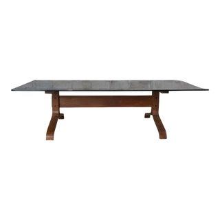 Ingmar Relling Westnofa Teak & Smoked Glass Siesta Coffee Table Rectangular MCM For Sale