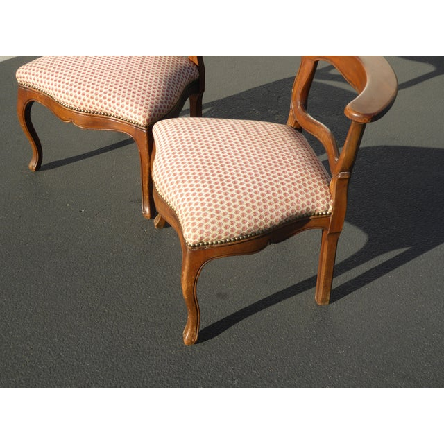 French Country Red Plaid Accent Chairs - A Pair For Sale In Los Angeles - Image 6 of 10