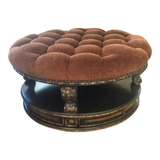 Schnadig Old World French Styling Degas Cocktail Ottoman For Sale