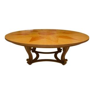 Custom Faux Grain-Painted Center Table