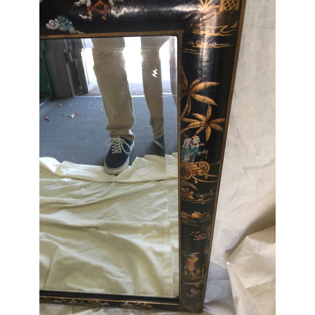 Chinese Chinoiserie Mirror - Image 4 of 6