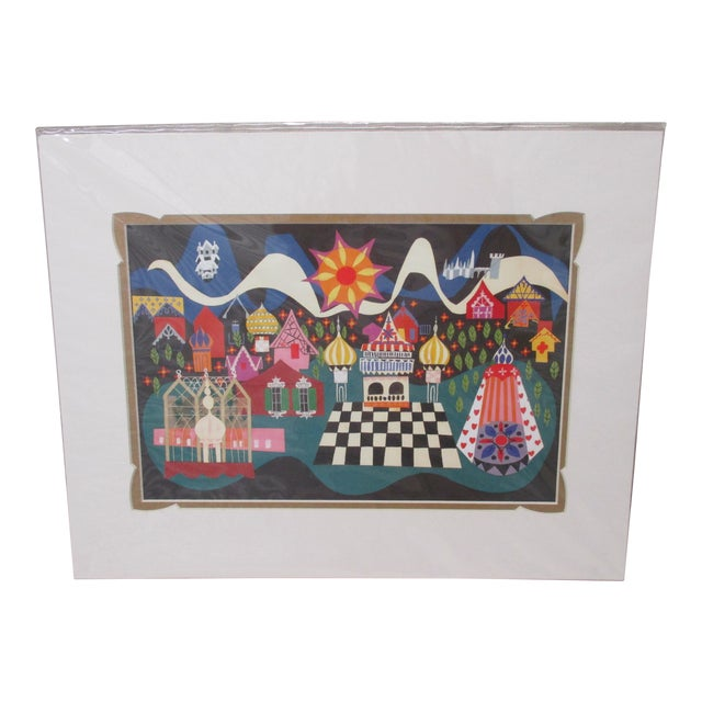 Vintage Walt Disney/Mary Blair Prints With Custom Matting #4 For Sale