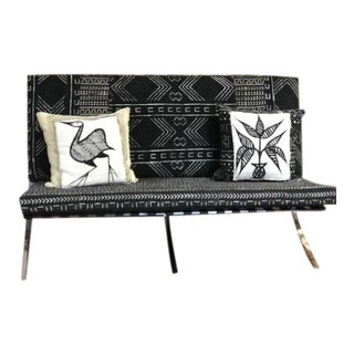 Mid-Century Style Barcelona Settee For Sale