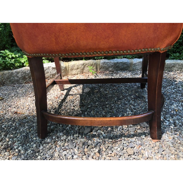 1960s Mid-Century Modern Brown Faux Leather Wingback Chairs - a Pair For Sale - Image 9 of 12