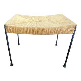 Author Umanofff Rush Seat Footstool For Sale