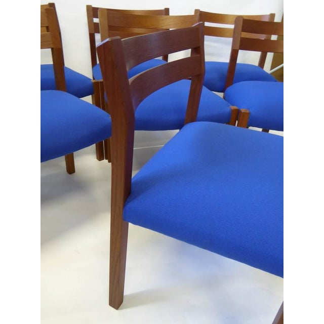 Eight 1974 Jørgen Henrik Moller Modern Teak Dining Chairs - Image 7 of 11