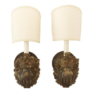 French Avoir Repurposed Billiard Table Pockets Wall Sconces - a Pair For Sale