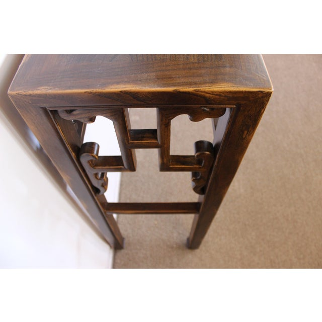 Brown Carved Console Table For Sale - Image 8 of 10