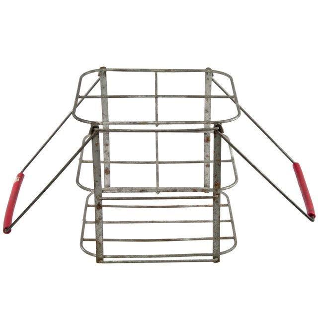 French Folding Wire Bottle Carrier - Image 3 of 5
