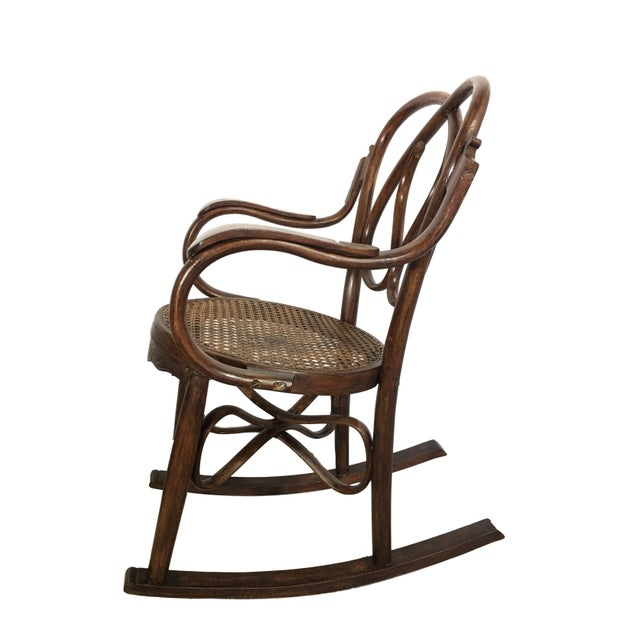 Cottage 19th Century Bentwood Rocking Chairs in Style of Jacob & Josef - A Pair For Sale - Image 3 of 7