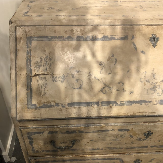 Early 19th Century Antique Painted Secretary Desk For Sale - Image 5 of 13