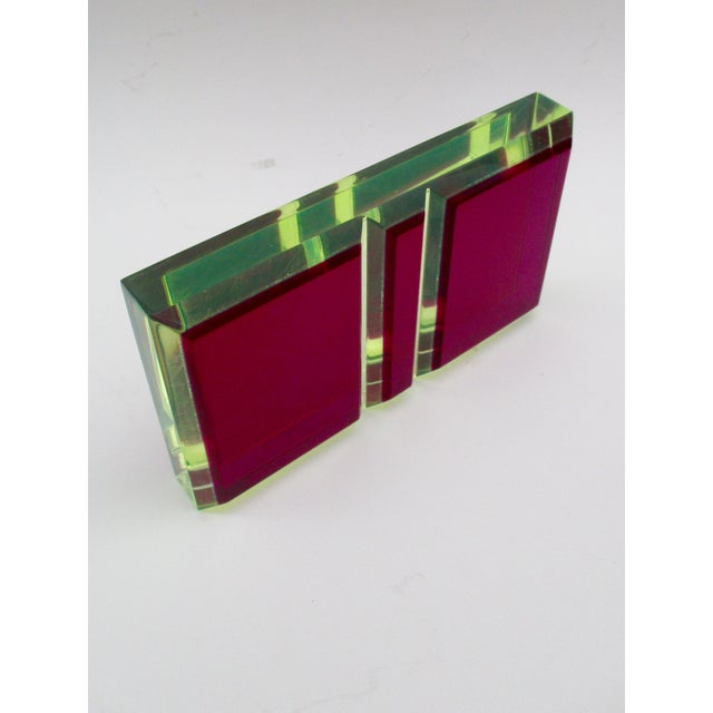 Vasa Velizar Mihich Style Lucite Paperweight Sculpture Block For Sale - Image 9 of 13