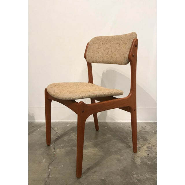 Stupendous Erik Buch Teak Tweed Dining Chairs Model 49 Lamtechconsult Wood Chair Design Ideas Lamtechconsultcom