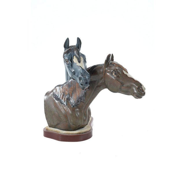 "Jose Roig Porcelain ""Horse Heads"" - Image 2 of 9"