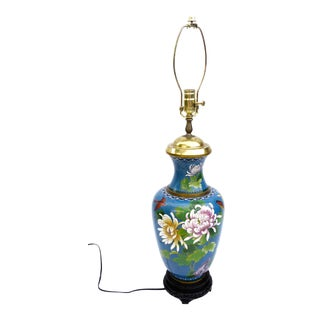 1930s Chinese Cloisonné Baluster Lamp For Sale