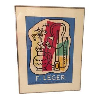 1960's Mid-Century Modern Leger Framed Poster For Sale