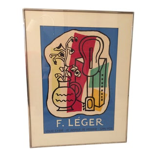 Leger Mid-Century Modern Framed Poster For Sale