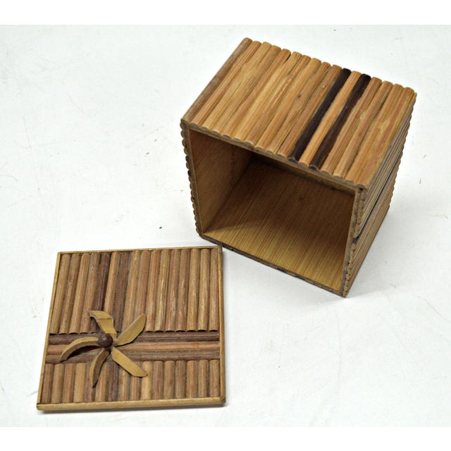 Rustic Wooden Stick Cigarette Box - Image 4 of 9